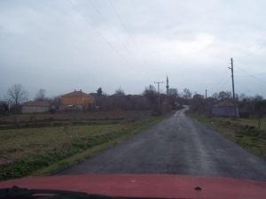 Köyün giriş yolu